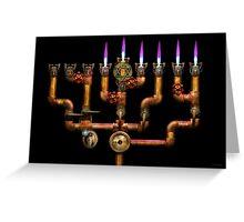 Steampunk - Plumbing - Lighting the Menorah Greeting Card