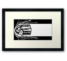 Bullet Bill BnW Framed Print