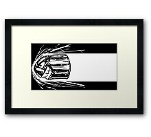 Bullet Bill BnW Framed Print