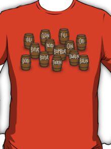 Dwarves in barrels from The Hobbit T-Shirt