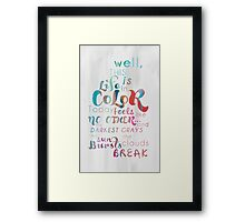 Life in Color Framed Print