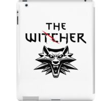 The Witcher Wolf Symbol and text iPad Case/Skin