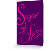 Shocking Pink Sugar and Spice Greeting Card