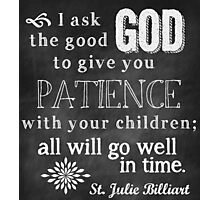Patience with Children Photographic Print
