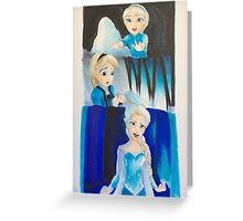 Elsa evolution  Greeting Card