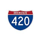 420 Interstate Road sign by Tony  Bazidlo