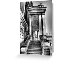 Steps to the Painted Hall Greeting Card
