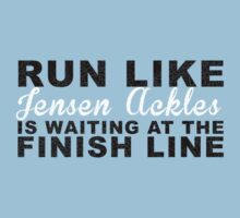 Run Like Jensen Ackles is Waiting at the Finish Line Kids Clothes