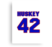 National baseball player Butch Huskey jersey 42 Canvas Print