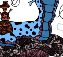Hookah Smoking Catterpillar V3.0 Sticker
