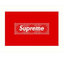 Supreme Red TNF Media Cases, Pillows, and More. Art Print