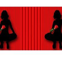 ¸¸.♥➷♥•*¨STRIPES'N SILHOUETTE GIRL ROSE OF LOVE MUG ¸¸.♥➷♥•*¨ by ✿✿ Bonita ✿✿ ђєℓℓσ
