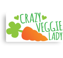 Crazy Veggie Lady Canvas Print