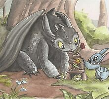 Toothless & Stitch by TheYungRyu