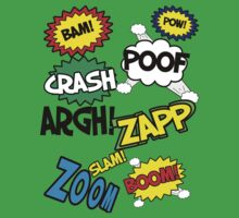 Comic Sound Effects Kids Clothes