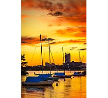 Anchored in gold Photographic Print