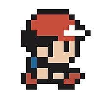 Ash Ketchum - Pokemon - Pixel Photographic Print