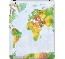 Map of the World Watercolour iPad Case/Skin