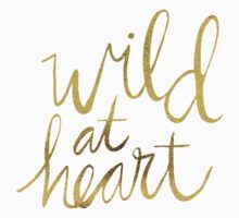 Wild at Heart – Navy & Gold T-Shirt