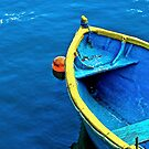 Boat In Blue by Astrid Pardew