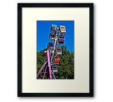 Zip Ride Framed Print