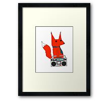 music fox Framed Print