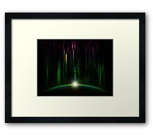 Abstract eclipse Framed Print