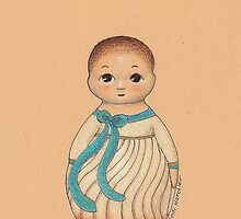Wee Ceramic Doll by TheTimidArtist