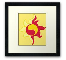 Sunset Shimmer cutie mark Framed Print