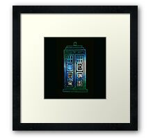 TARDIS - 'It's bigger on the inside' quote Framed Print