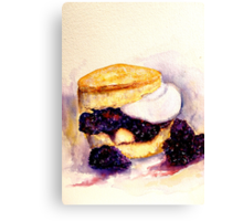 Delicious ..Scone with Berries and Cream Canvas Print