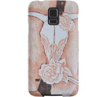 after Georgia O'Keeffe's Cow's Skull with Calico Roses  Samsung Galaxy Case/Skin