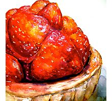 Delicious ..Strawberry Tart Photographic Print