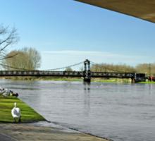 The River In Flood, Stapenhill Gardens Sticker