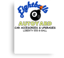 Eightball's Autoyard Canvas Print