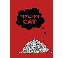 Cat Vs. String Photographic Print