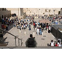 Taking a break in front of the Western Wall. Photographic Print