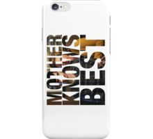 Mother Knows Best (Season One) iPhone Case/Skin