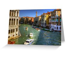 Looking North on the Grand Canal Greeting Card