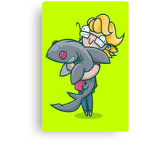Creative Shark Canvas Print