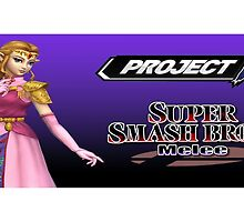 Zelda with Melee and Project M logos by geranimo