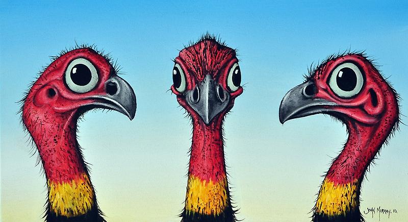 Bush Turkeys by John  Murray