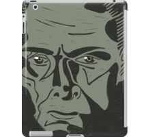 Lionel Atwell as Moriarty from Doctor Who, linocut iPad Case/Skin