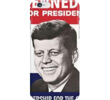 JFK Campaign Poster iPhone Case/Skin