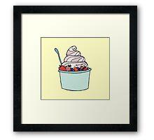 Frozen Yogurt Framed Print