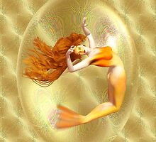 Captured .. mermaid in gold by LoneAngel