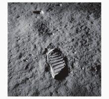Apollo 11 Buzz Aldrins Moon Footprint by NASA T-Shirt
