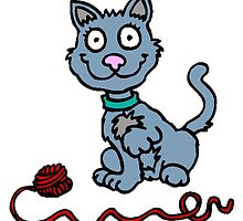 Cat With Ball Of Yarn by kwg2200