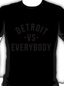 Detroit VS Everybody Black T-Shirt