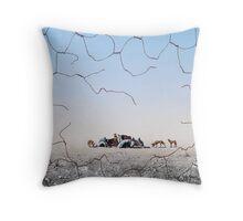The Dingo Fence Throw Pillow